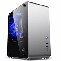 Modern Stylish Windowed Tempered Glass Mini ITX Aluminium Computer PC Case