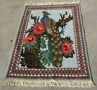 Beautiful Vintage Hand Woven Wool Islamic Rug With Peacock Design