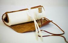 Medieval/Larp/Re enactment/CRUSHED LEATHER DIARY/JOURNAL with Quill & Ink Pot