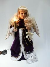 """1998 Telco Creations Christmas Motion-ette Angel Figure Girl w/ Candle 24"""" h"""