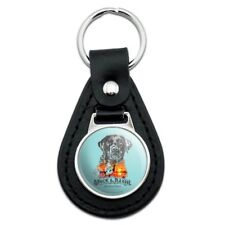 Stock and Barrel Outfitters Lab Duck Hunting Black Leather Keychain