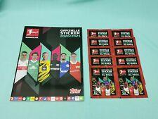 Topps Bundesliga Sticker 2020/2021 Sammelalbum + 10 Tüten / 100 Sticker 20/21