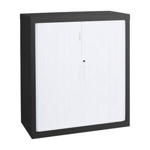 Tambour Cupboard - 900mm Wide 1020mm High with 2 Shelves