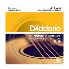 D'addario EJ19 Phosphor Bronze Bluegrass 12-56