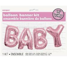 Unique Party Pink Baby Shower Air Balloon Banner Bunting Decoration