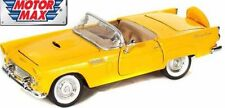 Ford Thunderbird, Model Car dark yellow, 1956 American Muscle, G,1/24 Scale