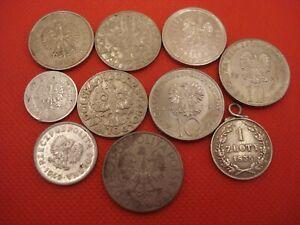 10 Poland Coins 1929 - 2018