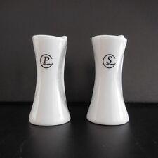 Lot 1 salière + 1 poivrière céramique porcelaine vintage design art-déco France