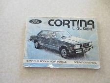 1979 Ford Cortina L & GL & Ghia owner's manual - Ford Australia