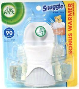 Air Wick 1.34 Oz Snuggle Fresh Linen 2 Ct Scented Oil Refills With Bonus Warmer