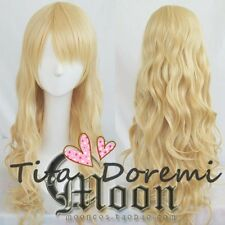 Halloween Wig Cosplay Mystic Messenger Rika blonde wavy party fashion long Hair
