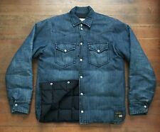 Denim & Supply Ralph Lauren Down/Feather Quilted Lined Denim Jacket Shirt (M)