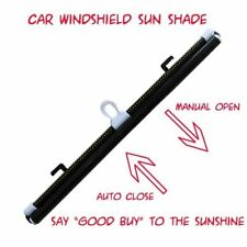 2 x Car Front Rear Windsheild Roller Type Retractable Sun Shade Screen~Black