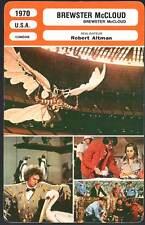 BREWSTER McCLOUD - Duvall,Altman (Fiche Cinéma) 1970