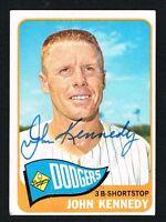 John Kennedy #119 signed autograph auto 1965 Topps Baseball Trading Card