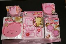 Official Sanrio Hello Kitty Pan Verduras Huevo Sushi Molde Molde Cortador De Galletas