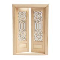 1:12 puppenhaus Miniatur Holz Holz Doppel Tür Kann 13,6*1,3*19,5 cm Gemalt W5O5