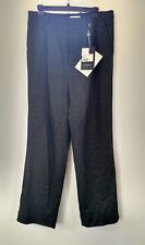 NWT Paolo Pecora Milano Black Speckled Pants Trousers Wool Made in Italy Sz 48