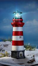 LED XL Leuchtturm mit Licht Drehfunktion 55 cm Garten Deko Beleuchtung Licht