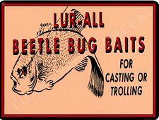 "LUR-ALL BEETLE BUG BAITS 9"" x 12"" Sign"