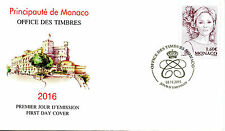 Monaco 2015 FDC Princess Charlene of Monaco 1v Set Cover Royalty Stamps