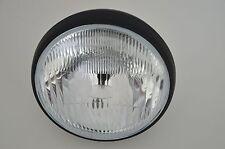 """7.5""""  Black Steel 12v55w Motorcycle  Headlight for BMW Cafe Racer Old Skool Brit"""