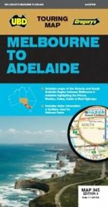 Melbourne to Adelaide Map 345 3rd ed by UBD Gregory's 9780731931439 | Brand New