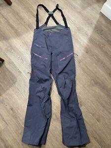 NWT Patagonia Women's PowSlayer Bibs Ski Snow Pants ~ Smolderblue ~ Size S