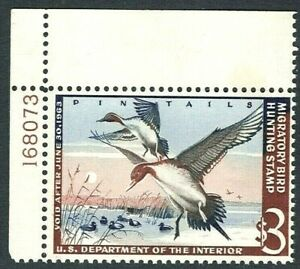 [KN]  Sc #RW29 ~ Mint-NH U.S. Duck Stamp Plate Number Single-PNS..Free Shipping