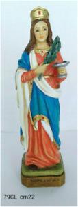 SANTA LUCIA - statua in resina e polvere di marmo - h. cm. 22