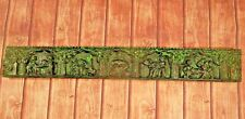"""Old Vintage Deep Hand Carved Wooden  Wall Hanging panel Kam Sutra Styles 36"""" L"""