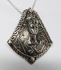 In Memory Of Elizabeth Taylor Cleopatra Silver Pendant