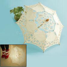 Chic Handmade Cotton Lace Parasol Umbrella Party Wedding Bridal Decoration go8l