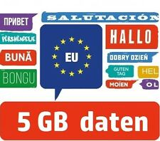 EU Internet Flat - Europa Daten SIM-Karte - Spanien Italien Kroatien Frankreich