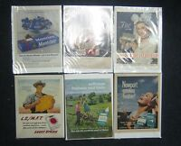 Lot of 6 Tobacco Advertising Pages From Magazines Life 40's-70's