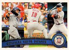 2011 Topps #134 Carlos Gonzalez Joey Votto Omar Infante Rockies Reds Braves