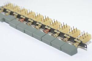 DDR Druckschalter / Tastensatz, 10-Fach mit Kappe von RFT Typ ETE-DDR 7502, NOS