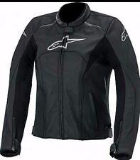 Women Alpinestar Motorcycle Racing Biker 100%Cowhide Leather Jacket CustomMade