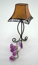 Teelichthalter afrikanischer Styl Metallhalter Schirm Orangeton Höhe ca. 30 cm