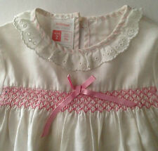 Girls pretty short sleeve long nightdress pastel pink Vintage 1980s St Michael
