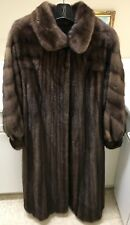 Custom Made In NYC 100% Real Mink Fur Coat Size 6-8