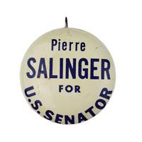Vtg Pierre Salinger US Senator Political Campaign Lithograph Pinback Button #2