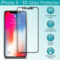 Genuine Tempered Glass Screen Protectors Film Guard Protection for iPhone X