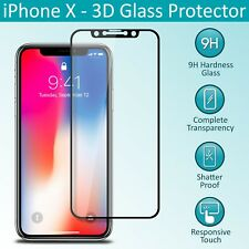 100% Genuine Tempered Glass Screen Protector For Apple iPhone X Black