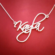 Kayla name necklace Sale! silver Signature neckless - Any name Personalized