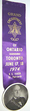 1974-GRAND ENCAMPMENT OF TORONTO-ONTARIO ODD FELLOWS GRAND PATRIARCH RIBBON