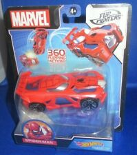 MARVEL COLLECTOR FLIP FIGHTERS HOT WHEELS AVENGERS SPIDERMAN CHARACTER CAR