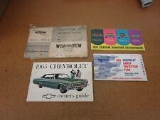 ORIGINAL 1965 Chevrolet Impala Bel Air owners manual book literature guide