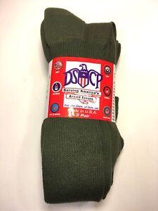 DSCP  Socks  Green Military Boot Sock 3 pack Men's New