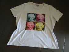 Ulla Popken Shirt 48 weiß Frontprint Glitzer TOP Zustand